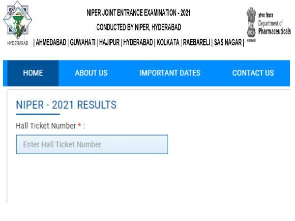 NIPER JEE Result 2021 Merit List Download: एनआईपीईआर जेईई रिजल्ट 2021 मेरिट लिस्ट डाउनलोड करें
