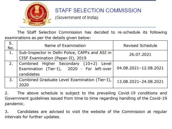 SSC Calendar PDF Download 2021: एसएससी सीजीएल सीएचएसएल सीपीओ परीक्षा तिथि 2021 जारी