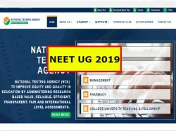 Neet 2019 Ug Application Start From 1st November Know How To Apply Www Nta Ac In