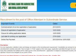 Nabard Recruitment 2020 Apply Online For 73 Office Attendant Post Group C Jobs