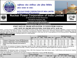 Npcil Recruitment 2020 Apply Online For 178 Post