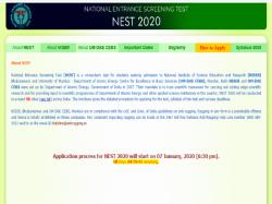 Nest 2020 Online Registration Process