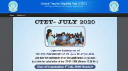 Ctet July Registration 2020 Cbse Ctet 2020 Notification Pdf Download
