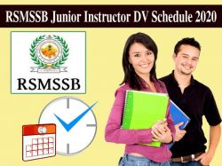 Rsmssb Junior Instructor Dv Schedule