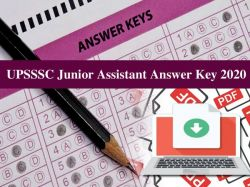 Upsssc Junior Assistant Answer Key 2020 Download Pdf