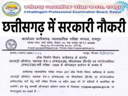 Cg Vyapam Vacancy