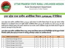 Upsrlm Recruitment 2020 Upsrlm Vacancy
