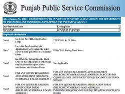 Ppsc Functional Manager Recruitment 2020 Notification Apply Online Till 27 March