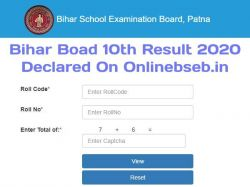 Bihar Board 10th Result 2020 Declared Check Bseb 10th Matric Result 2020 Onlinebseb In