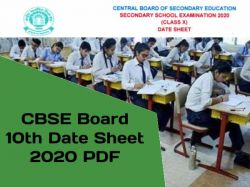 Cbse 10th Date Sheet 2020 Pdf Download