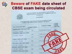 Fact Check Beware Cbse For 10th 12th Datesheet 2020 Is Fake Circulated
