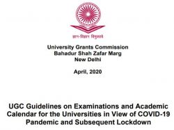 Ugc Guidelines 2020 21 For Examination