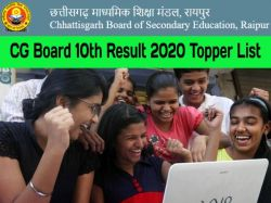 Cg Board 10th Result 2020 Topper List