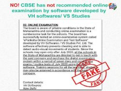 Fact Check Cbse Not Recommend Online Exam Vh Softwares Vs Studies App