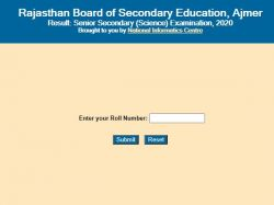 Rajasthan Board Rbse 12th Science Result 2020 Check Roll Number Wise