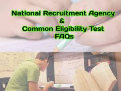 Common Eligibility Test National Recruitment Agency Faqs