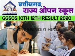 Cgsos 10th 12th Result 2020 Declared At At Cgsos Co In Check Here