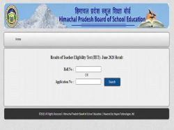 Hptet Result 2020 Declared At Hpbose Org