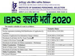 Ibps Clerk 2020 Vacancy Revised Notification Apply Online