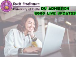 Du Admission 2020 Live Updates Du Cut Off List Du Admission Dates
