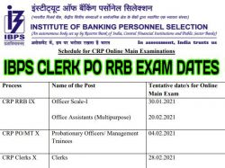 Ibps Calendar 2021 Ibps Clerk Po Rrb Exam Dates Released On Ibps In