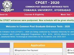 Osmania University Cpget 2020 Exam Date