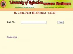 Rajasthan University B Com Final Year Result 2020 Decaled At Uniraj Ac In Check Here