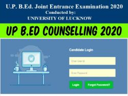 Up B Ed Counselling 2020 Registration Schedule Admission Process