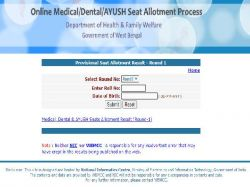 West Bengal Neet 2020 Seat Allotment Result Declared At Wbmcc Nic In