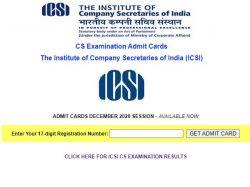 Icsi Admit Card December 2020 Released At Icsi Edu Icsi Exam Date December 21 To
