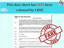 Fact Check Cbse Board Exam 2021 Date Sheet Viral On Social Media
