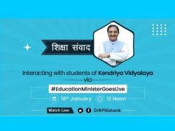 Ramesh Pokhriyal Interact With Kendriya Vidyalaya Students Live Updates