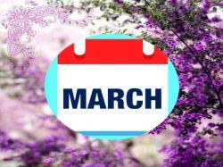 March Calendar Festival Holidays Important Days Dates