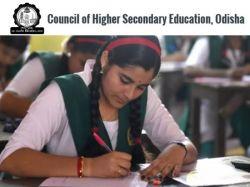 Odisha Chse Exam Time Table