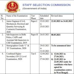 Ssc Calendar 2021 22 Pdf Download New Ssc Exam Dates
