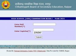 Cgbse 10th Result 2021 Decarded On Results Cg Nic In