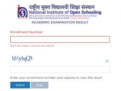 Nios 10th 12th Result 2021 Marksheet Download