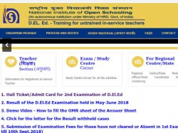 Nios Deled Admit Card 2018 Nios Deled 2018 2nd Exam Hindi Know How To Download