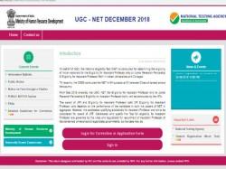 Ugc Net December 2018 Application Correction Start Apply Before Oct