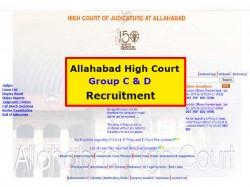 Allahabad High Court Group C D Recruitment 2018 3495 Vacancies Official Notification