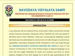 Jawahar Navodaya Vidyalaya Test 2019 Registration Process Starts For Class 6th