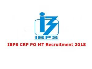 Ibps Crp Po Mt Recruitment 2018