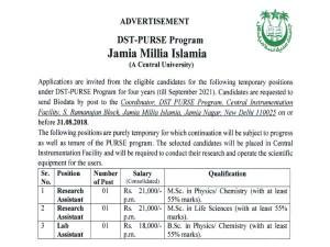 Jmi Recruitment Notification 2018