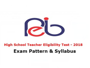 Mp Shikshak Bharti 2018 Exam Pattern Syllabus High School Teacher Eligibility Test