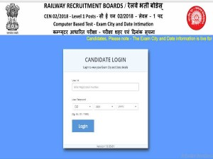 Rrb Group D 2018 Check Exam City Date Released Download Admit Card From September 13