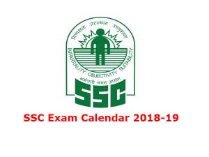 Ssc Exam Calendar 2018 19 Know Ssc Exam Calendar 2018 19