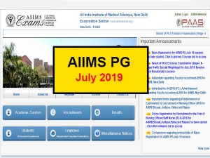 Aiims Pg 2019 July Session Registration Starts Know How To Apply Www Aiimsexams Org