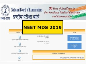 Neet Mds 2019 Application Begins Know How Apply Apply Before Nov 6