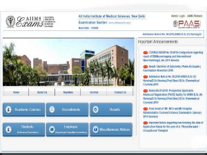 Aiims Mbbs Online Registration 2019 Registration Starting Today Apply Here Aiimsexams Org
