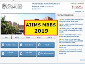 Aiims Mbbs Online Registration 2019 Apply Mbbs 2019 Aiimsexams Org